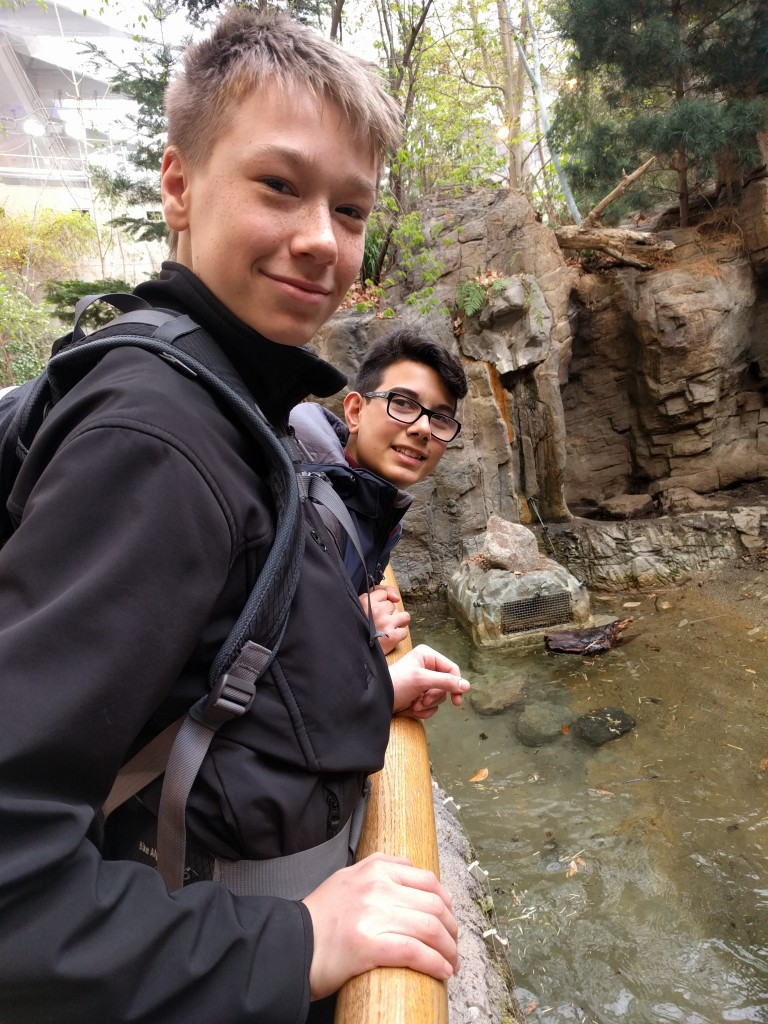 2016 Tour: Matthew and Christian at the otter exhibit